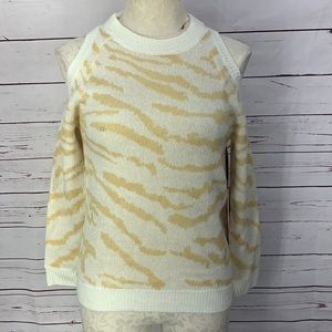 Sweet & Sinful Animal Print Cold Shoulder Sweater